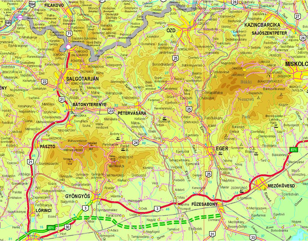 térkép eger környéke Bükk hegység   S ~ Eger Szállás térkép eger környéke